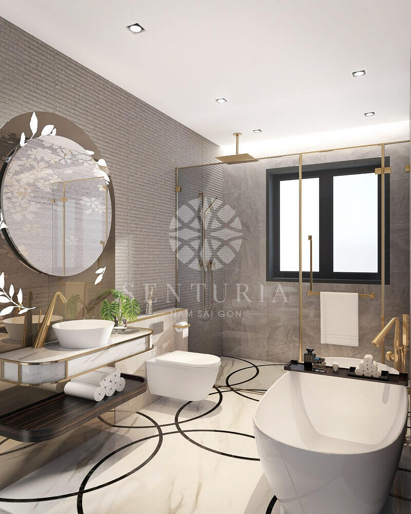 nội thất căn hộ chung cư Senturia Nguyễn Văn Linh